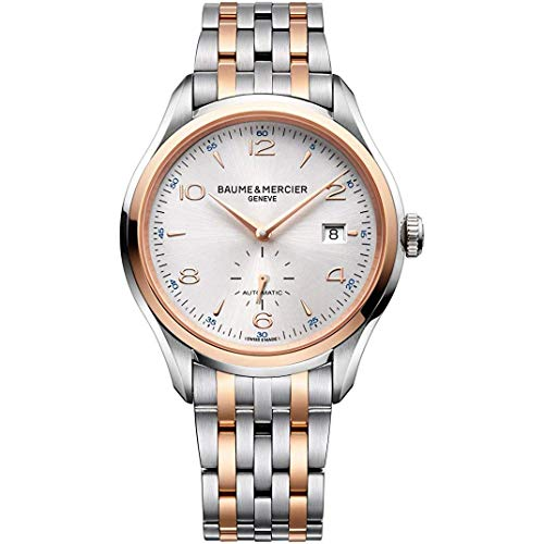 Baume & Mercier Men's 41mm Steel Bracelet & Case Automatic Silver-Tone Dial Analog Watch 10140