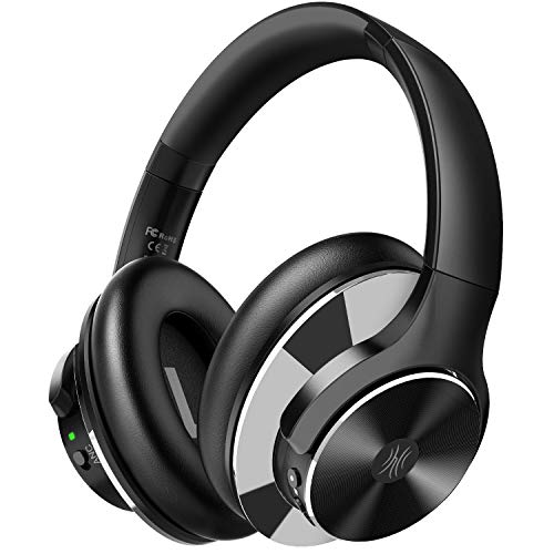OneOdio Bluetooth Over Ear Headphones with 40H Playtime Active Noise Cancelling Wireless Stereo Headsets with Hi-Fi Sound Quick Charge Protein Earpads for Travel Airplane Laptop