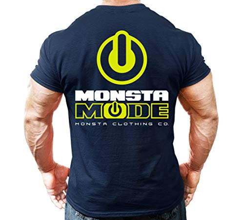 Monsta Clothing Co. Men's Workout Bodybuilding (Monsta-Mode) Gym T-Shirt (G:NY) (Brand Names Of Clothing That Start With G)