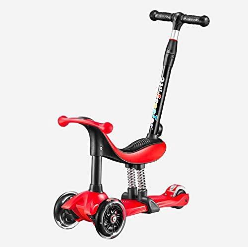 NBgycheche Trike triciclo 3 ruedas Scooter, multifunción tres en uno scooter niños pueden sentarse en el scooter bebé Patines de cuatro ruedas 1-8 años de edad