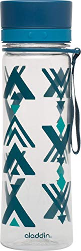Aladdin Aveo Water Bottle 0,6 L Marina Print - Leakproof, Wide Opening for Easy fill, Smooth Drinking spout, Stain and Smell Resistant, Dishwasher Safe, Naturally BPA Free 10-01102-071