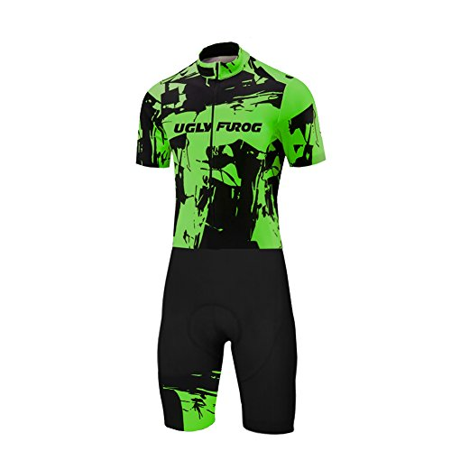 Uglyfrog 2019 Bike Wear Jersey with Short Legs Skinsuit Uomo Mountain Bike Cycling Body Abbigliamento Ciclismo Primavera Style LTFX03F