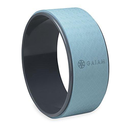 Gaiam Yoga Wheel, Black/Grey