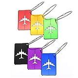 6 etiquetas de metal para equipaje con etiqueta nombre, dirección, viaje, impermeable, PVC, o...