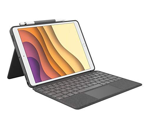 Logitech Combo Touch para iPad Air 3a generación y iPad Pro de 10.5 pulgadas, Disposición QWERTZ Alemán, Gris
