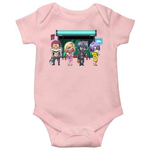 OKIWOKI One Piece Lustiges Rosa Kurzärmeliger Baby-Bodysuit (Mädchen) - Charlotte Katakuri und Katakuri (One Piece Parodie signiert Hochwertiges Baby-Bodysuit in Größe 56 - Ref : 1181)