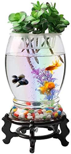 Creative Aquarium, thuis woonkamer desktop decoratie ecologische aquarium met LED-licht, aan de basis To Send,M
