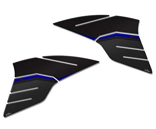 Adesivi 3d Protezioni Serbatoio Compatibili Con Yamaha Tracer 900 2019 - Adesivo Moto 3d Ultra resistente per Moto - Protezione Moto - Colorazioni: Blu - Silver. (Blu)