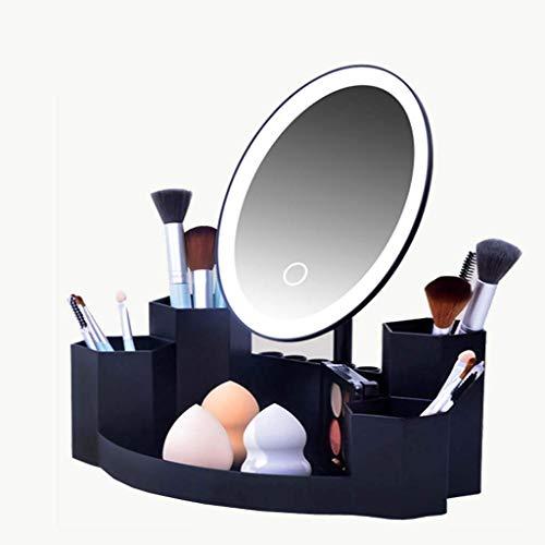 Schminkspiegel, Bad Kosmetikspiegel Selbstgemachte Mode verstellbare LED-Lampe Damen Beauty Cosmetics Oval Schminktisch 180 °