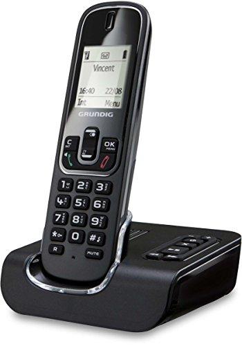 Grundig D350A schnurloses DECT Telefon schwarz