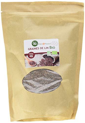 Herbes Et Plantes Graines de Lin Brun Bio 500 g
