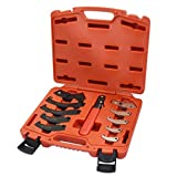 FIRSTINFO Adjustable Universal Pin & Hook Wrench Spanner 11 Piece Shock Absorber Tool Kit with Carrying Case For Suspension Collar, Normal Industrial Use