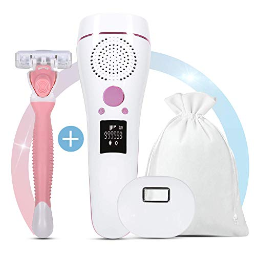 IPL Hair Removal Laser Device with ICE Cooling   Permanent Hair Remover for Women and Men, 999,999...