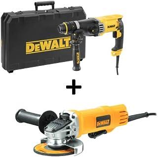 DeWalt D25144K 900W 28mm 3 Mode SDS-Plus Hammer Drill + DWE4120 900W 115mm Small Angle Grinder - D25144KMEA1-B5, 1