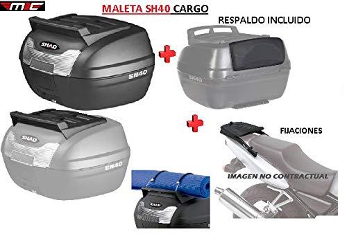 SHAD Kit BAUL Maleta Trasero SH40 Cargo litros + FIJACION + Respaldo Pasajero Regalo - Honda NC750X 2016-2018
