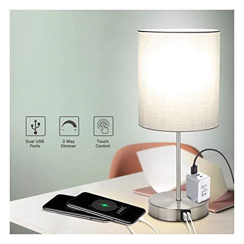 FGDSA Lámpara de Escritorio Lámpara de Escritorio de Carga USB Lámpara de Noche con atenuación táctil Lámpara de Noche de Dormitorio con luz LED de Noche