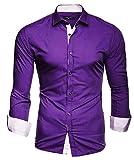 Kayhan Hombre Camisa, TwoFace Purple XL