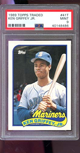 Ken Griffey Jr. Graded PSA 9 MINT (Baseball Card) 1989 Topps Traded - Box Set [Base] #41T