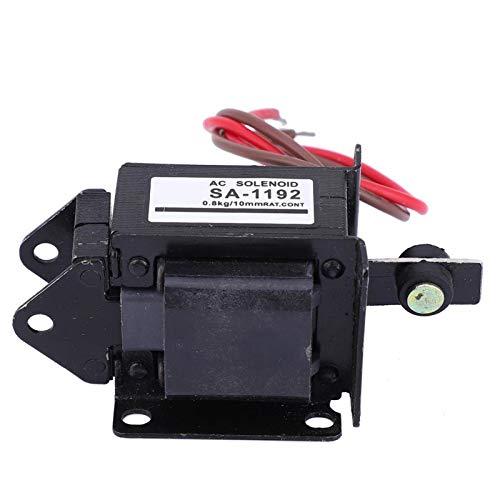Électroaimant pousser-tirer, course de 10 mm 7.8N type pousser-tirer cadre 220V AC électroaimant aimant SA-1192