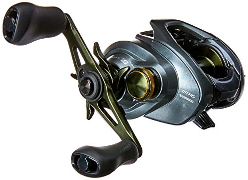 SHIMANO CURADO DC 151, Left Handed, Extra High Gear, LowProfile Baitcasting Freshwater Fishing Reel