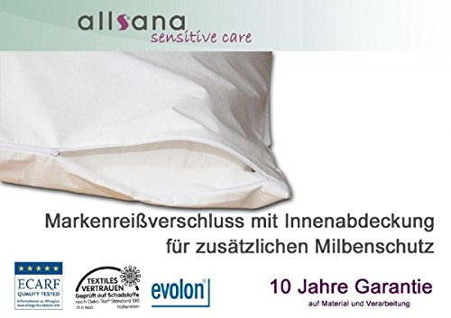 allsana Allergiker Matratzenbezug 100x200x20 cm Allergie Bettwäsche Anti Milben Encasing Milbenschutz für Hausstauballergiker