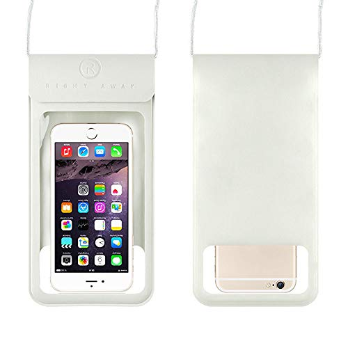 L&SH Sac étanche Transparent pour Téléphone Portable, Sac étanche Universel pour Téléphone Portable, avec Bandoulière, Nage étanche, Sac De Téléphone Portable à La Dérive (Blanc)