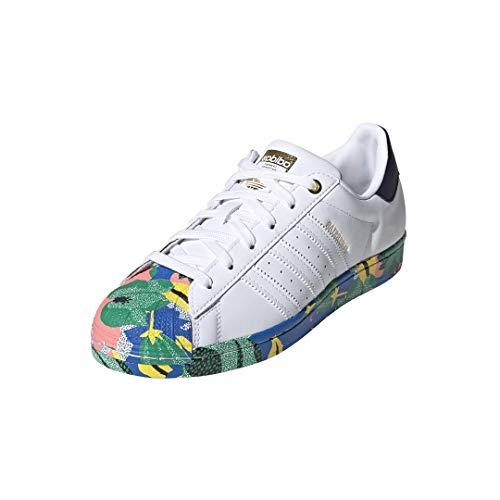 adidas Originals Zapatillas de running Superstar para mujer, blanco (Blanco/Blanco/Tinta), 40 EU