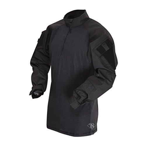 Tru-Spec T.R.U 1/4 Zip Combat Shirt Chemise, Noir/Noir, 3XL Homme