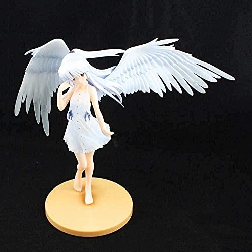 Anime Angel Beat Action docka Tachibana Tenshi hörn S vingar vit klänning se kan vara utomhus PVC-docka 17 cm