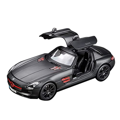 min min Auto Modell 1:18 / Kompatibel mit Mercedes-Benz SLS/Sport Auto Metall Auto Modell Legierung Auto Modell...