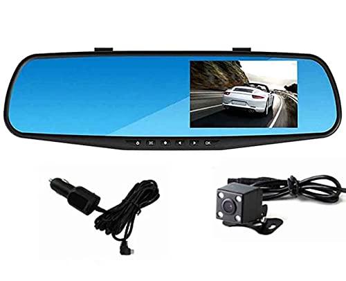 """LONGRUI Spiegel Dashcam Auto Vorne Hinten, 2,5K Autokamera Mit 4.3\"""" Touchscreen, Nachtsicht Mit Sensor 1080P Rückfahrkamera, Loop-Aufnahme, G-Sensor, Parkmonitor, Parkhilfe, HDR, WDR,32g"""