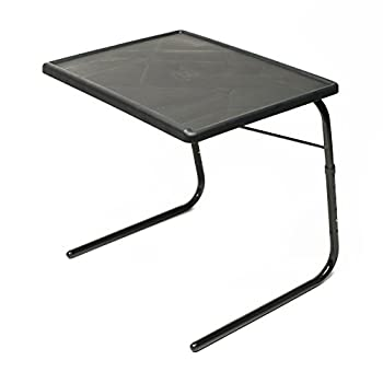 Table Mate XL TV Tray Extra Large Folding Table Adjustable to 6 Heights and 4 Angles for Eating Laptop and Multipurpose Use  Black