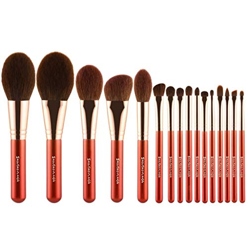 Pinceau de maquillage LHY- 16 delige Maple Leaf Rouge Make-upborstel Losse poederborstel Fard à Joues Beauté Brosse Oogschaduwborstel Mode