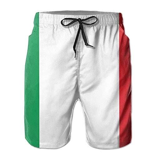 GHJL Strand/Yoga-Hose, italienische Flagge, sportliche Sporthose für Herren, Jungen, Outdoor-Hose, Strandzubehör Gr. M, weiß