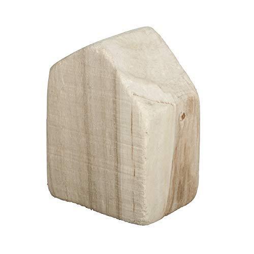Rayher 62871505 Holzhaus, 6,5 x 4,5 x 8,5 cm, Vollholz, Naturholz, Deko Haus aus naturbelassenem Holz