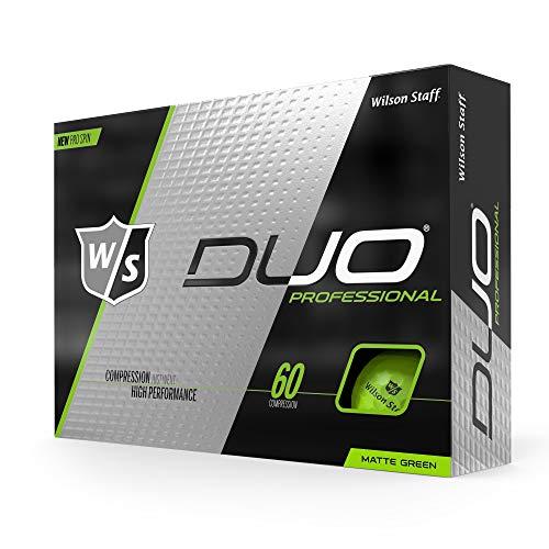 WILSON Unisex-Erwachsene W/S Duo Professional 12-Ball Golfball, Neon-Grün