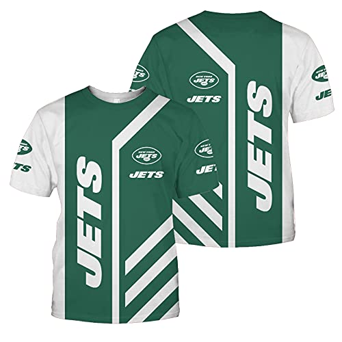 Xiaolimou 2021 Philadelphia Eagles New York Jets New York Giants Rugby Jersey Camisas De Rugby para Hombres Ropa Deportiva Regular Fit, Lavable A Máquina, Regalo para Fanáticos del Rugby,Verde,XL