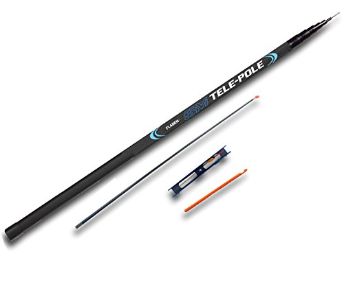 FLADEN Fishing 5m 16ft Starter TELE WHIP POLE Combo Collapses to 115cm Fishing Tackle Set for Big Freshwater Fish Comes with Spare Elasticated Top Kit Ready Tied Rig and Disgorger 12W 105