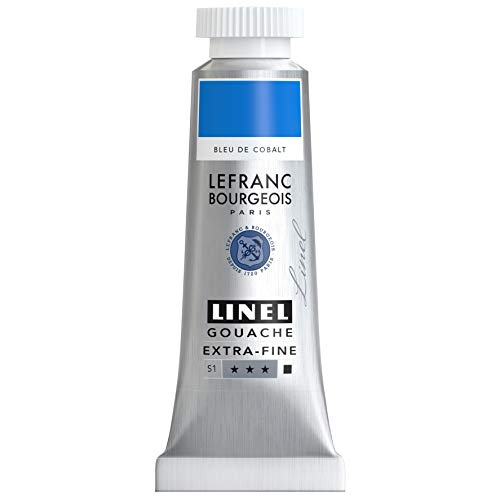 Lefranc Bourgeois Linel Gouache Extra-Fine Tube 14ml Bleu De Cobalt Série 1 301186