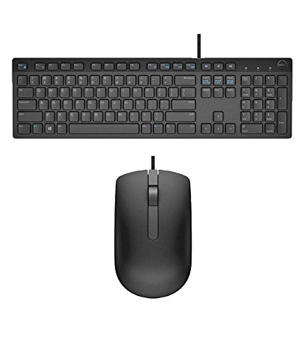 Dell USB Wired Keyboard & Mouse Combo(Black) KB216+MS116