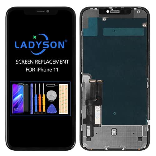 Pantalla LCD de repuesto compatible con iPhone 11 de 6.1 pulgadas (A2111 A2223 A221) 3D LCD Pantalla Táctil Digitalizador Completo de Cristal de Reparación Kit con Herramientas +Vidrio Templado