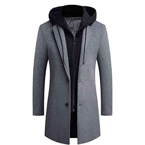 Mens Hooded Long Coat