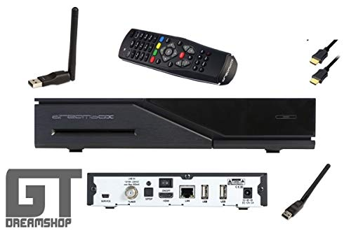 Dreambox DM520 1x DVB-S2 inkl. 150 Mbit WLAN-Stick antenne Linux Full HD Sat-Receiver1080p H.265 schwarz