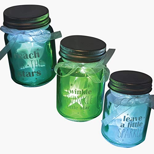 ISOTRONIC LED Lampe (3er Set) Leuchte Laterne, Hängeleuchte für Bad, Haus, Garten, Balkon und Außen Einmachglas Vorratsglas Deko für Party, Fest, Hochzeit (transparent)