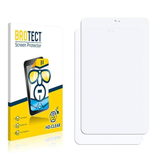 BROTECT Schutzfolie kompatibel mit Kiano SlimTab 8 MS (2 Stück) klare Bildschirmschutz-Folie