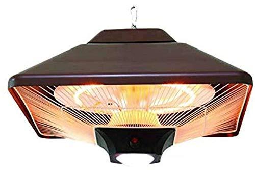 DYB Infrarot-Strahlungsheizung Mit Fernbedienung, Terrassen-Strahlungsheizung 2000W IR-Komfort-Heiztechnologie LED-A für den Außenbereich