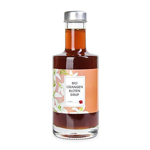 Bio Sirup Orangenblüte 200 ml – Orangenblütensirup aus echten Orangenblüte für Cocktails, Desserts oder als Geschenk – Manufaktur von Blythen