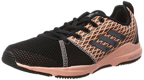 adidas Arianna Cloudfoam, Zapatillas Deportivas para Interior Mujer, Multicolor (Core Black/Night Metallic/Haze Coral), 36 EU