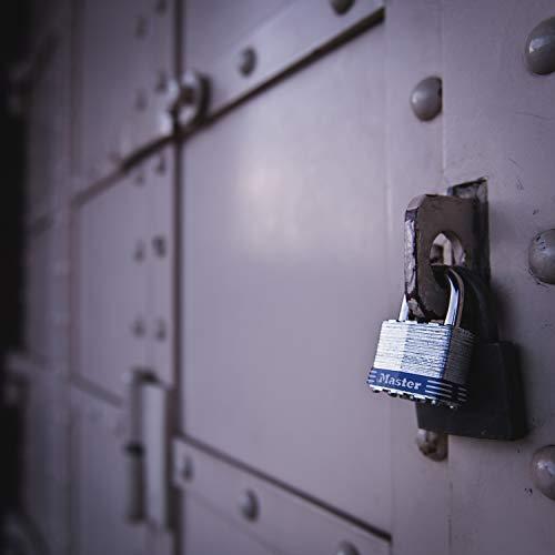 Master Lock 3EURD Laminated Padlock with Key, Grey, 5,9 x 4 x 2,1 cm