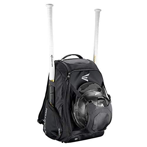 EASTON WALK-OFF IV Bat & Equipment Backpack Bag | Baseball Softball | 2020 | Black | 2 Bat Sleeves | Vented Shoe Pocket | External Helmet Holder | 2 Side...